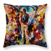 Three Umbrellas Throw Pillow