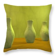Three Vases II Throw Pillow