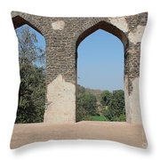 Three Views Throw Pillow