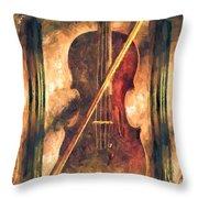 Three Violins Throw Pillow by Bob Orsillo