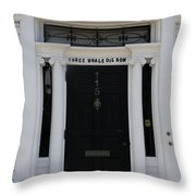 Three Whale Oil Row - Black Door - New London Throw Pillow