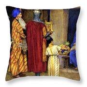 Three Wise Men Bearing Gifts Throw Pillow