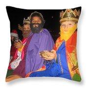 Three Wise Men On Float Christmas Parade Eloy Arizona 2005 Throw Pillow