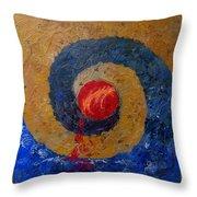 Threefold Anguish Throw Pillow by Gigi Dequanne