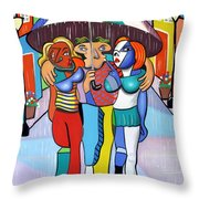 Threes A Crowd By Anthony Falbo                                          Throw Pillow by Anthony Falbo