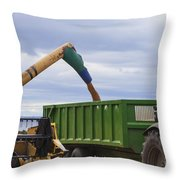 Threshing The Barley Throw Pillow
