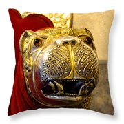 Throne Detail Udaipur City Palace India Throw Pillow