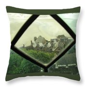 Through A Window To The Past Throw Pillow