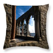 Through Castle Walls Throw Pillow