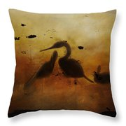 Through Painted Glass Throw Pillow