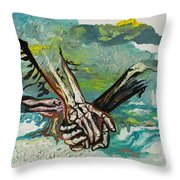 Through Storms Throw Pillow