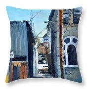 Through The Alley Throw Pillow