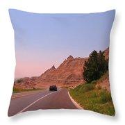 Through The Badlands Of South Dakota Throw Pillow
