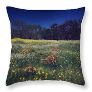 Through The Blooming Fields Throw Pillow