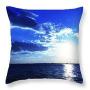 Through The Blue Throw Pillow