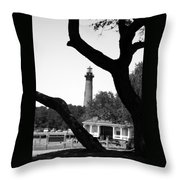 Through The Branches Throw Pillow