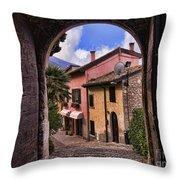 Through The Castle Door Throw Pillow