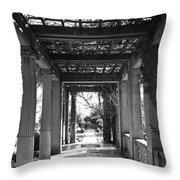 Through The Columns Throw Pillow