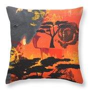 Through The Elephant's Eyes Throw Pillow