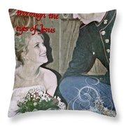 Through The Eyes Of Jesus Throw Pillow