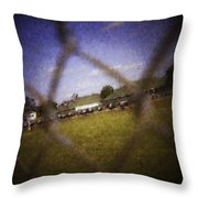 Through The Fence Water Color Throw Pillow