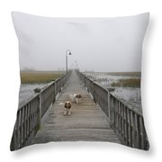 Through The Fog Throw Pillow