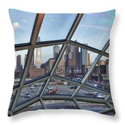 Through The Glass At Philly Throw Pillow