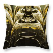 Through The Glasses Throw Pillow by Jean Noren