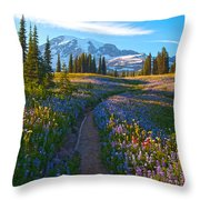 Through The Golden Meadows Throw Pillow