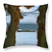 Through The Hole Throw Pillow