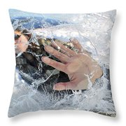 Through The Ice Throw Pillow