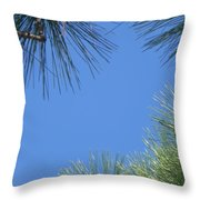 Through The Leaves Throw Pillow