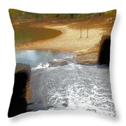 Through The Locks Throw Pillow