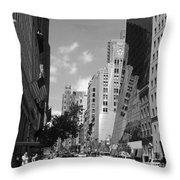 Through The Looking Glass In Black And White Throw Pillow