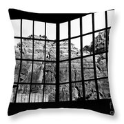 Through The Monastery Window Throw Pillow