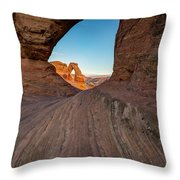Through The Needle Throw Pillow