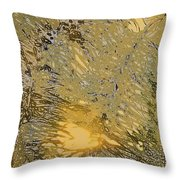 Through The Palm Leaves Throw Pillow