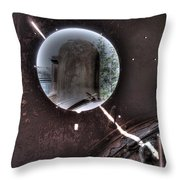 Through The Port Hole. Throw Pillow