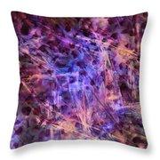 Through The Purple Rain Throw Pillow