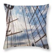 Through The Rigging Throw Pillow