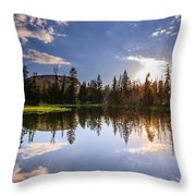 Through The Trees Throw Pillow