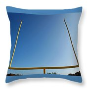 Through The Uprights Throw Pillow