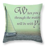 Through The Waters Throw Pillow