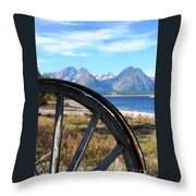 Through The Wheel Throw Pillow