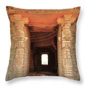 When Windows Become Art - Jain Temple - Amarkantak India Throw Pillow