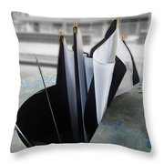 Throw Away Your Umbrellas The Rain Has Stopped Throw Pillow