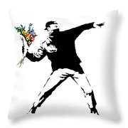 Throwing Love Throw Pillow