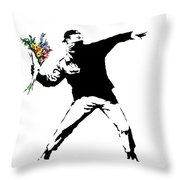 Throwing Love Throw Pillow