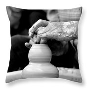 Throwing On The Pottery Wheel Throw Pillow