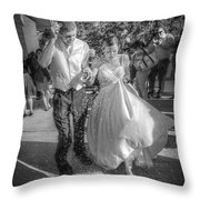 Throwing The Rice Throw Pillow